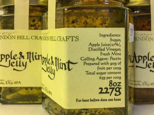 Brendon Hill Crafts Apple & Mint Jelly label