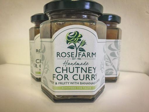Rose Farm Chutney for Curry