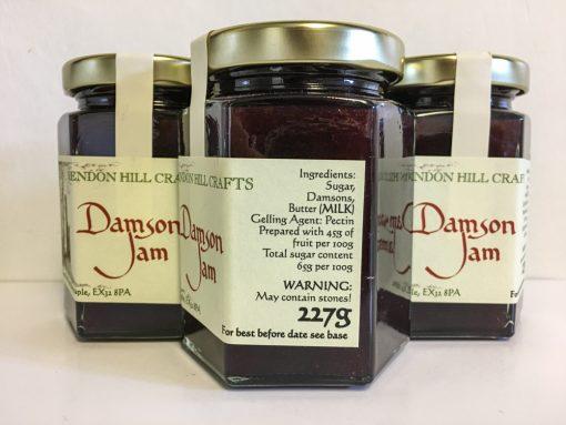 Brendon Hill Crafts Damson Jam label