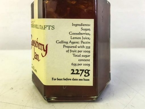 Brendon Hill Crafts Gooseberry Jam label