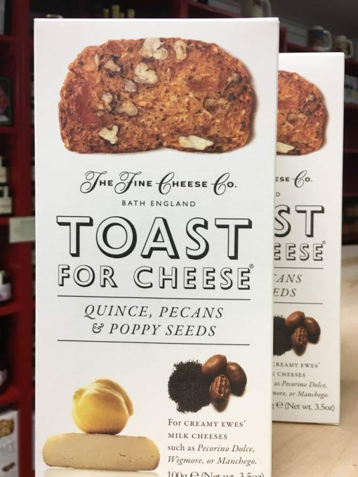 The Fine Cheese Co. Toast for Cheese Quince Pecans & Poppy seeds