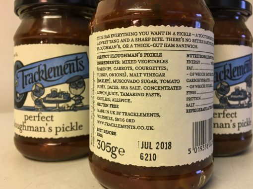 Tracklements Perfect Ploughman Pickle label
