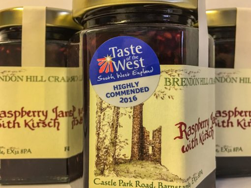 Brendon Hill Crafts Raspberry Jam with Kirsch