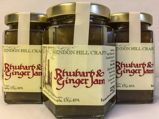Brendon Hill Crafts Rhubarb & Ginger Jam