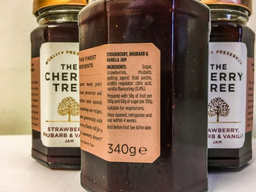 The Cherry Tree Strawberry Rhubarb & Vanilla Jam