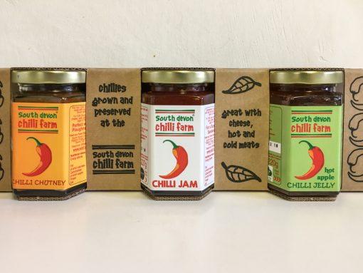 South Devon Chilli Farm 3 Jar set