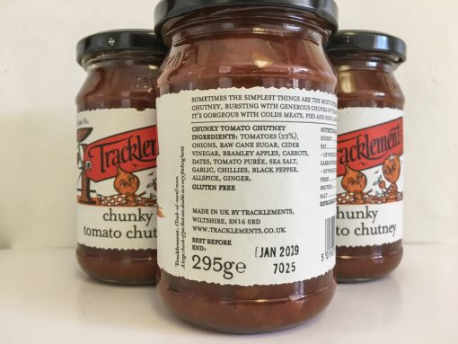 Tracklements Chunky Tomato Chutney label