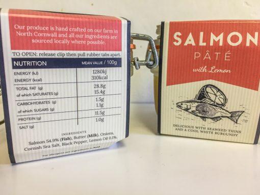 Cornish Charcuterie Salmon pate with Lemon label
