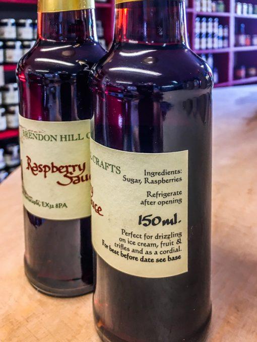 Brendon Hill Crafts Raspberry Sauce-label