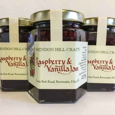 Brendon Hill Crafts Raspberry and Vanilla Jam