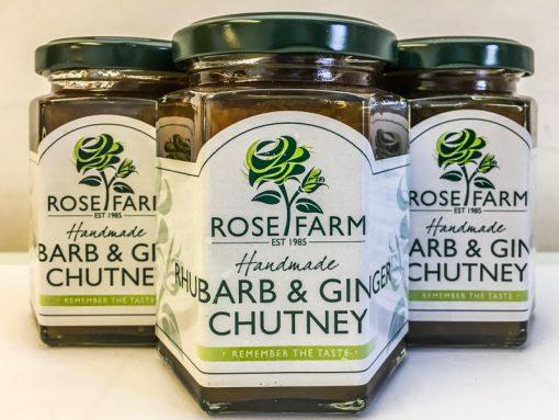 Rose Farm Rhubarb & Ginger Chutney