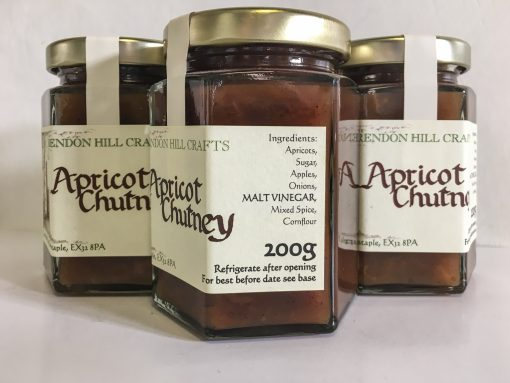 Brendon Hill Crafts Apricot Chutney Label