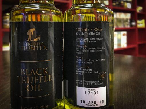 Truffle Hunter Black Truffle Oil label-2