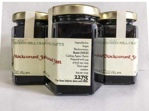 Brendon Hill Crafts Blackcurrant Jam label