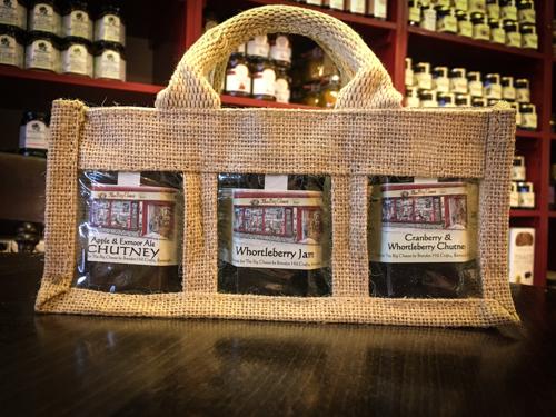 Three Jars in canvas bag