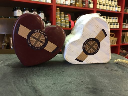 Godminster Heart Shaped Cheeses